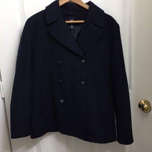 Gap navy blue Pea Coat size L